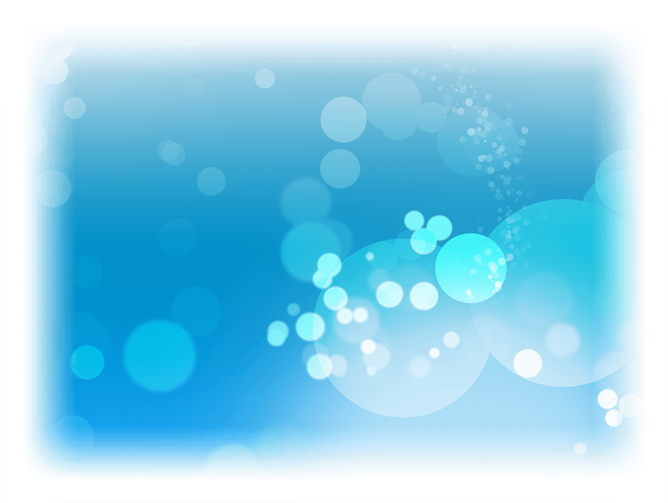 Bubbles Light Blue Fade